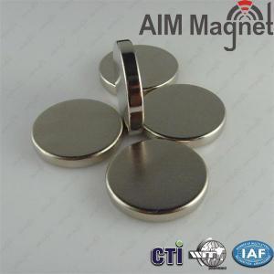China Diameter 25mm x tickness 4mm N38 Nickel coating neodymium magnets wholesale