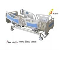 China Five Function ABS Side Rail Electric ICU Bed With Central Control Brake Wheels (ALS-E507) wholesale