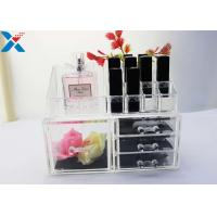 China Rectangle Acrylic Makeup Drawer Organizer / Acrylic Cosmetic Organiser ROHS Approved wholesale