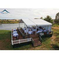 White Commercial Event Tents 10m * 20m For Celebrations And Military Affairs