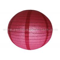 China Single Color Round Chinese Paper Lantern wholesale
