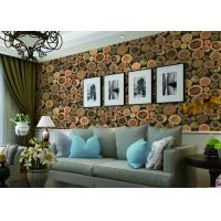 China Chinese Style Embossed 3D Home Room Decoration Wallpaper For Saloon / TV Background wholesale