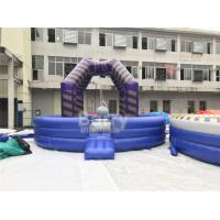 China Last Man Standing Inflatable Interactive Games , Purple Outdoor Playground Equipment Wrecking Ball Game wholesale