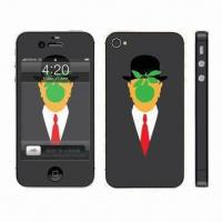 China Sticker for iPhone 4, Water-, Weather- and Scratch-resistant wholesale