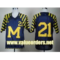 China Michigan Wolverines Desmond Howard 21 Navy Blue Under The Lights College Football Jersey wholesale