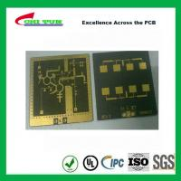 China 3 Layer TLY-9+HT1.5 SOFT GOLD Smt PCB Assembly Service with Black Solder wholesale