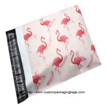 China Flamingo Cartoon Plastic Poly Mailer Envelopes Gravure Printing Moisture Proof wholesale