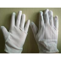 China Static Resistant Gloves , Mens White Cotton Gloves Excellent Stretch Tension on sale