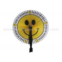 Smiling Face Printed Accordion circle paper fans for reception , banquet , picnic