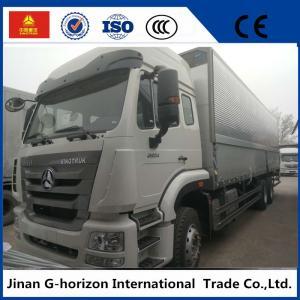 Quality sinotruk howo 10 wheelers 336hp side open wingvan cargo truck for sale
