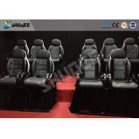 China Thrilling 5D Movie Theater Motion Cienma Luxury Black Movement Chairs wholesale