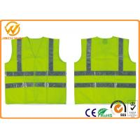 Buy cheap Fluorescent Green / Orange High Visibility Safety Jacket with Reflective Strip from wholesalers