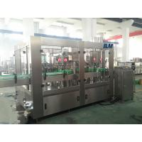 China Juice Milk filling and aluminum foil cutting and sealing machine HDPE PP bottle wholesale