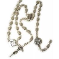China cheap metal religious or christain jewelry,acessories,products, necklace roasry with pendant on sale