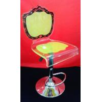 China High Grade Crystal Acrylic Bar Chair With Rolling Base For Gift , Colorful wholesale