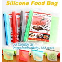 China Silicone Kitchen Bag, Silicone Food Storage Bag Reusable,Reusable Silicone Food Storage Bag Food Grade Vegetable Storage on sale