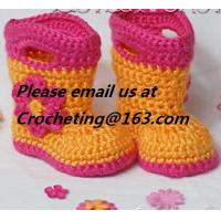 China New shoes for baby girl 12 colors knitted booties Newborn crochet booties baby moccasins first walker shoes wholesale