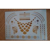 China Safe Body art Metallic Tattoo Jewelry with silver and gold foil wholesale