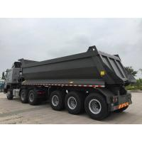 China 3 axles U shape 40 tons load capacity good quality rear dump tipper semi trail for sale on sale