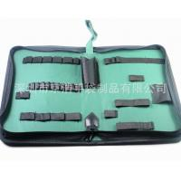 China Home Small Soft Canvas Tool Bag With14 Elastic Bands 32*21*5.5 Cm wholesale