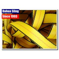 China Yellow Heavy Duty Lashing Straps , 1 Inch Webbing Strap 3000# BS Water Resistant wholesale