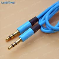 China Gold plated Blue color 3ft 3.5mm XLR cable wholesale
