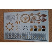 China Fashion Shine metallic temporary tattoo sticker in gold and silver wholesale