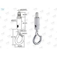 China Lighting Products Aircraft Cable Fixture Hangers Self - Gripping Hook Safety Lock wholesale
