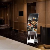 China menu board for resturants monitor 1920*1080 floor stand digital signage wholesale