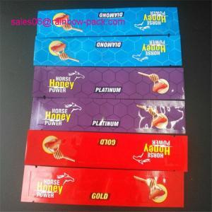 China Horse Honey Powder Sachet Foil Pouch Packaging Golden Royal Honey Vip Malaysia Bag wholesale