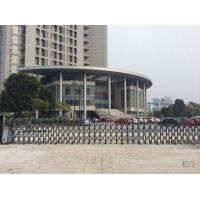 China Security Retractable Automatic Gate One Piece Bended Tubular Profile With Photocell wholesale