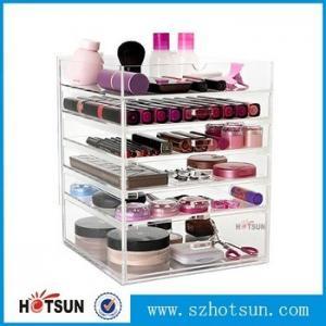 China Acrylic cosmetic makeup organizer/ makeup brush display/ makeup brush holder,Fashion acrylic Design Makeup Organizer wholesale