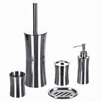 China 5pcs Nice Stainless Steel Bathroom Set wholesale