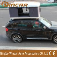 China Hard Shell Fibreglass white box Car Roof Top Tent Manual by Handle Cranks wholesale