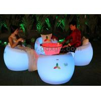 China Apple Shape Plastic and RGB Outdoor Chairs And Stools with Round table wholesale