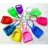 China 2017 wholesale silicon cover for hand gel,hand sanitizer silicone holder wholesale