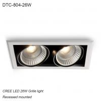 China Indoor IP40 recessed mounted adjustable angle 26W COB LED down light for home decoration wholesale