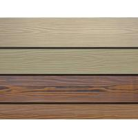 China Wood Grain Fiber Exterior Cement Board Siding , Cement Fiberboard Panels wholesale