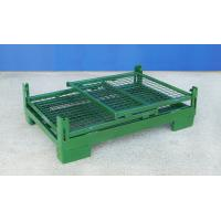China Foldable Wire Container Storage Cages Warehouse Material Handling on sale