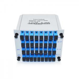 China Slot Cassete Chasis Plug In Fiber PLC Splitter , 1x32 Fiber Optic Coupler Splitter wholesale