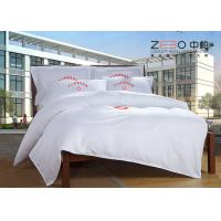 China 180 -200 Thread Count Hotel Collection Bed Sheets White Plain Style wholesale