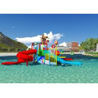 China Water Pool Toys Theme Park Concept Design Customized Aqua Playground With Dump Bucket wholesale