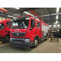 China 5000-7000l Special Purpose Truck , Water Tanker Fire Eengine Foam Fire Fighting Truck With 50m Work Height on sale