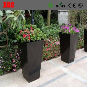 China New Design Fiber Glass Outdoor Garden Flower Pot wholesale