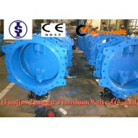 China Rubber Lined Marine Industrial Double Flanged Butterfly Valve Wafer / U Type wholesale