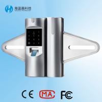 China Price best seller zinc alloy silvery biometric glass door lock for office on sale