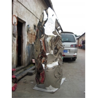 China 316 Polished Metal Art Sculptures Outdoor Decorative Stone 2500 Mm wholesale