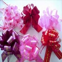 China Chocolate Boxes Packing Bright Color Wrapping Bows With Solid Printed Ribbon wholesale