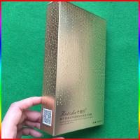 China facial mask gold paper box, cosmetic packing paper box with rhinestone printing on sale
