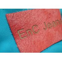 China Personalized Metal Logo Genuine Embossed Leather Labels And Tags For Clothes wholesale